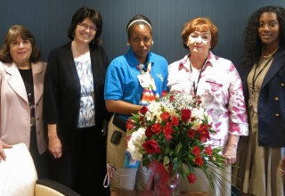 Senior care manager, Yakima Williams and team